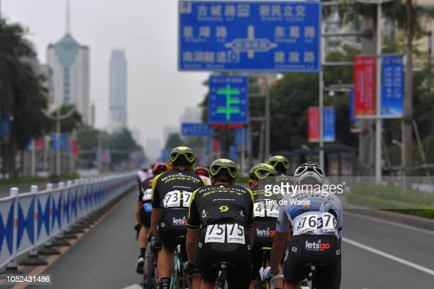 Roger Kluge of Germany and Team Mitchelton-Scott / Luka Mezgec of Slovenia and Team Mitchelton-Scott / Matteo Trentin of Italy and Team...
