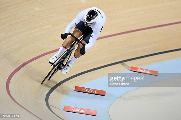 Roger Kluge of Germany competes in the Cycling Track Men's Omnium Flying Lap on on Day 10 of the Rio 2016 Olympic Games at the Rio Olympic Velodrome...