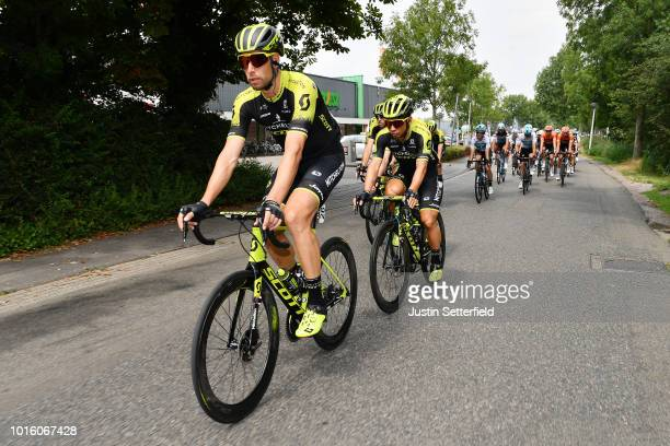Roger Kluge of GermanyCaleb Ewan of Australia and Team Mitchelton Scott / during the 14th BinckBank Tour 2018 Stage 1 a 1773km stage from Heerenveen...