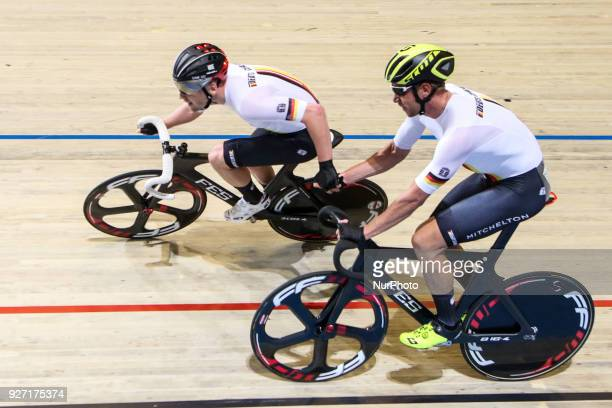 Roger Kluge Theo Reinhardt Men`s madison during UCI Track Cycling World Championships Apeldoorn 2018 in Apeldoorn Netherlands on March 4 2018