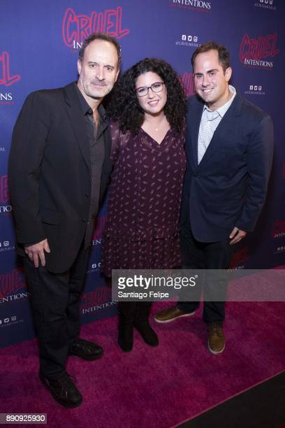 Roger Kumble Lindsey Rosin and Jordan Ross attend 'Cruel Intentions' The 90's Musical Experience at Le Poisson Rouge on December 11 2017 in New York...