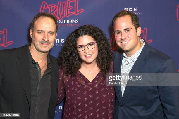POISSON ROUGE NEW YORK UNITED STATES Roger Kumble Lindsey Rosin Jordan Ross attend Opening night of Cruel Intentions musical at Poisson Rouge