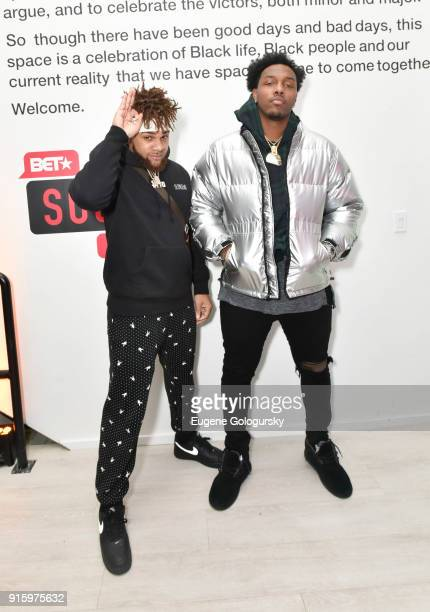 Roger Lewis and Taco Charlton attend the BET NETWORKS Hosting of the Opening Night Reception For 'THE MUSEUM OF MEME' In Celebration Of 'THE BET...