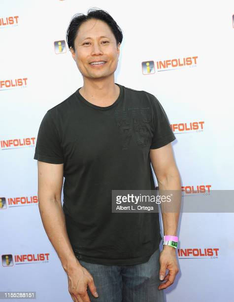Roger Lim attends InfoListcom's PreComicCon Bash held at Wisdome Immersive Art Park on July 11 2019 in Los Angeles California