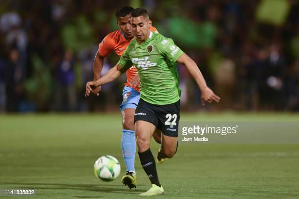 Roger Martinez of America fights for the ball with Ricardo Chavez of Juarez during the final match of Copa MX 2019 between FC Juarez and America at...