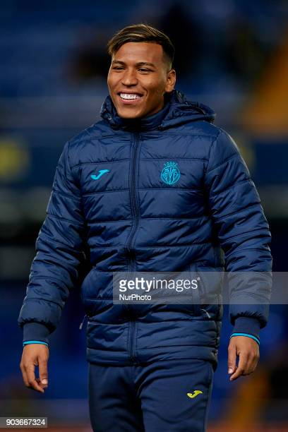 Roger Martinez of Villarreal CF smiles prior to the Copa del Rey Round of 16 second leg game between Villarreal CF and CD Leganes on January 10 2018...