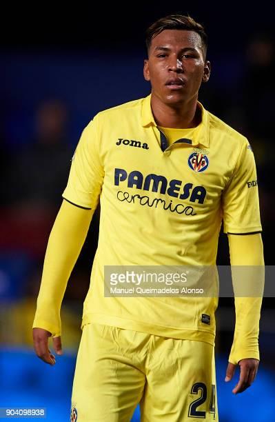 Roger Martinez of Villarreal looks on during the Copa del Rey Round of 16 second Leg match between Villarreal CF and Leganes at Estadio de La...