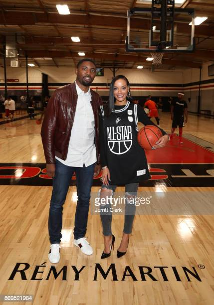 Roger Mason Jr and Selita Ebanks attends The Launch of The House Of Remy Martin MVP Experience at Shoot 360 on November 2 2017 in Torrance California
