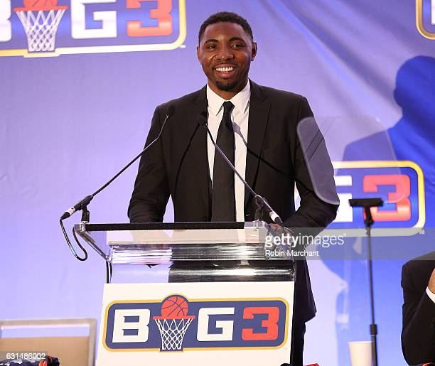 Roger Mason Jr attends BIG3 Press Conference on January 11 2017 in New York City