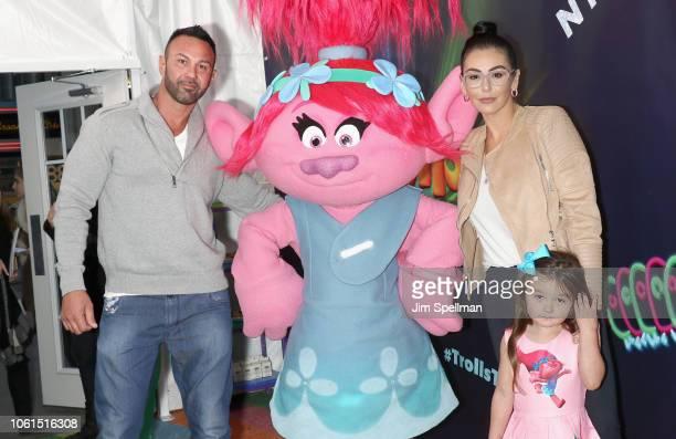 "Roger Mathews, Jenni ""JWoww"" Farley and daughter Meilani Alexandra Mathews attend the Dreamworks Trolls The Experience opening at Trolls The..."