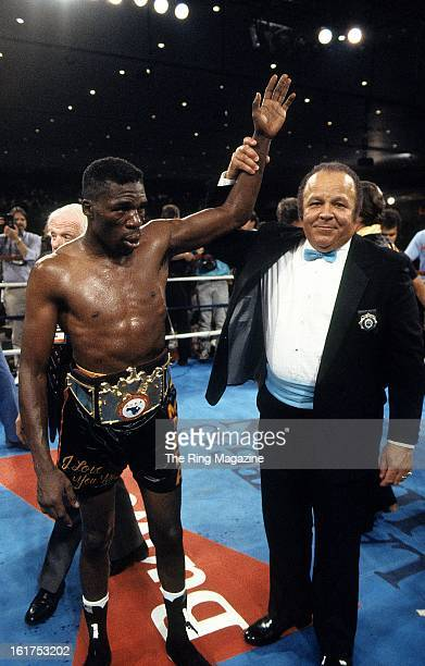 Roger Mayweather celebrates after winning the fight against Harold Brazier at Hilton Hotel in Las Vegas NevadaRoger Mayweather won the WBC light...