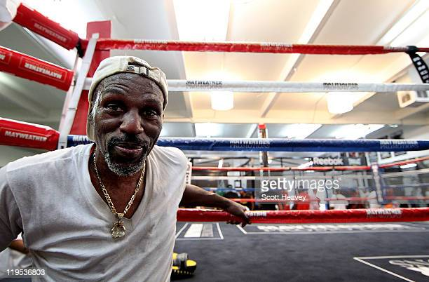 Roger Mayweather during a training session at the gym of Folyd Mayweather in Chinatown on July 21 2011 in Las Vegas Nevada