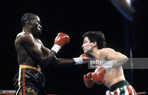 Roger Mayweather throws a punch against Vinny Pazienza during the fight at Caesars Palace in Las Vegas Nevada Roger Mayweather won the WBC light...