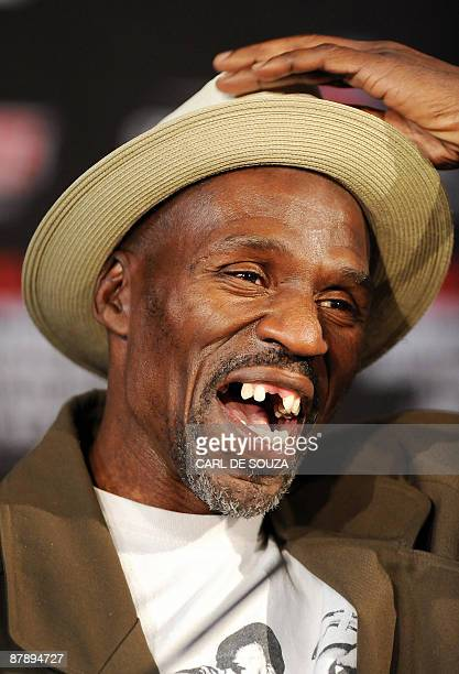 Roger Mayweather uncle and trainer of US boxer Floyd Mayweather is pictured during a press conference in London on May 21 2009 Mayweather was...