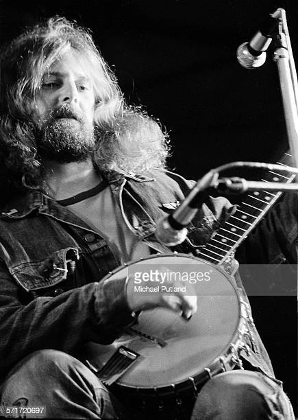 Roger McGuinn of the Byrds performs on stage at the Lincoln festival 24th July 1971