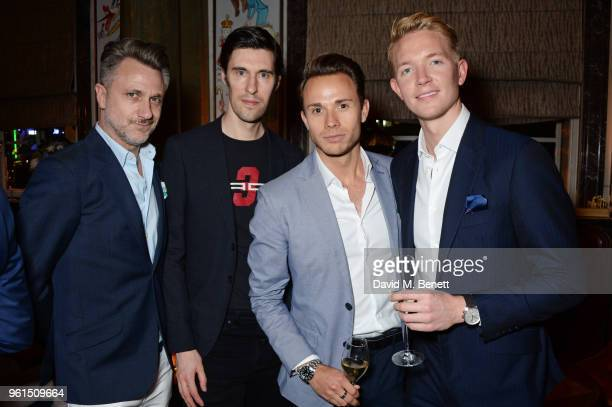Roger Mele Clym Evernden Ashley Cooper and Warwick Brennand attend a VIP after party at Rosewood London celebrating the UK Premiere of 'Always At The...