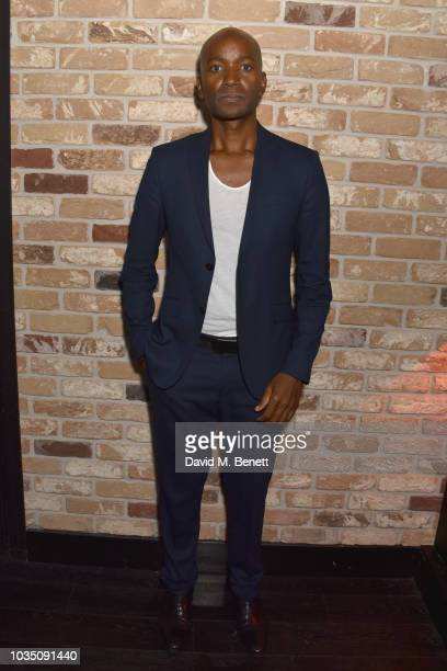 Roger Michael attends the Edeline Lee X Glass Magazine party during London Fashion Week September 2018 at Kadie's Cocktail Bar Club on September 17...