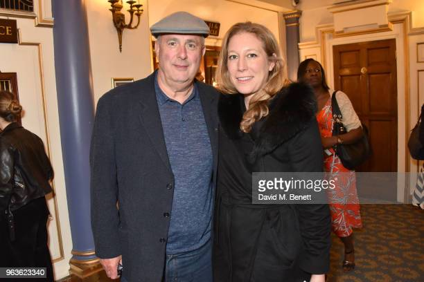 Roger Michell and Nina Raine arrive at the press night performance of 'Consent' at the Harold Pinter Theatre on May 29 2018 in London England