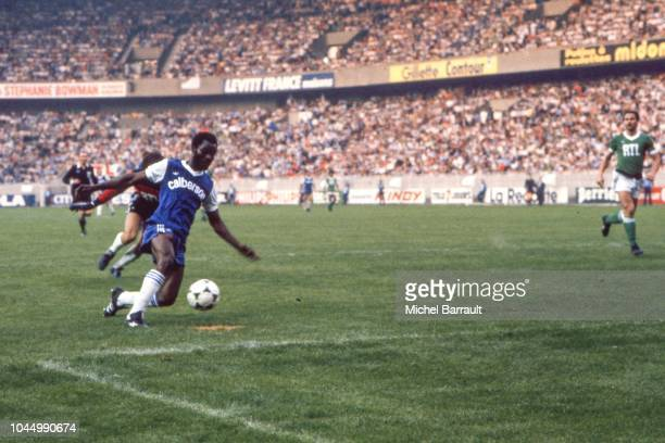 Roger Milla of Bastia during the French national cup final match between Bastia and St Etienne at Parc des Princes Paris France on June 13 1981