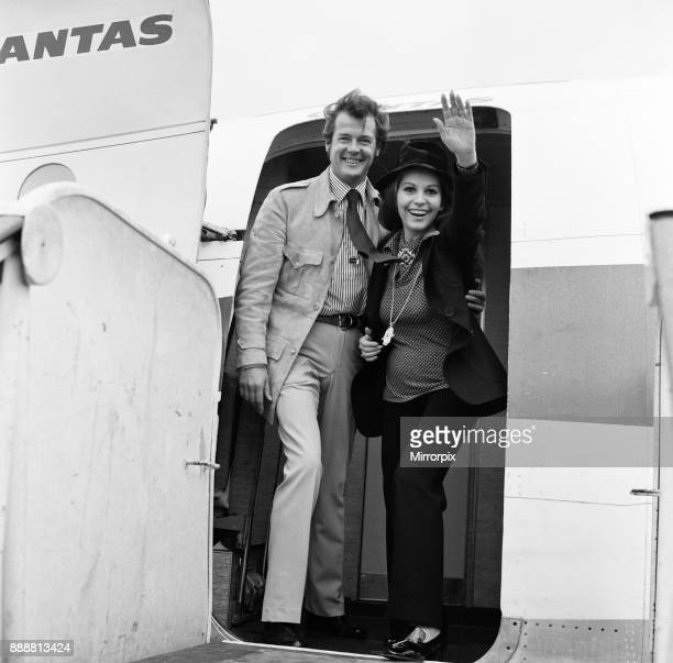 Roger Moore and his wife Luisa departing LAP for Tahiti where they will spend a holiday before going on to Australia for a business visit 5th...