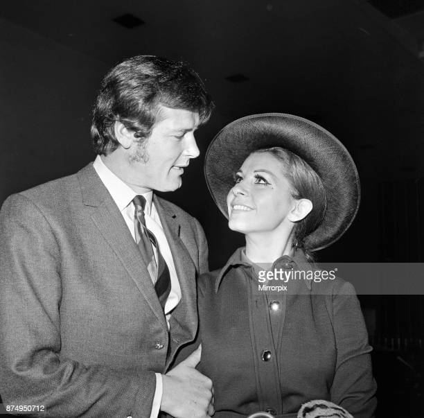 Roger Moore and his wife Luisa heading off on their honeymoon 13th April 1969
