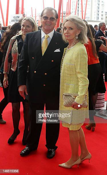 Roger Moore and Kristina Tholstrup attend the 'Electric Burma' concert for Aung San Suu Kyi at the Bord Gais Energy Theatre on June 18 2012 in Dublin...