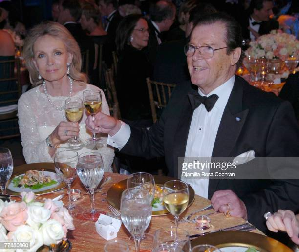 Roger Moore attends the 25th Anniversary Princess Grace Awards Gala at Sotheby's on October 25th 2007 in New York City New York