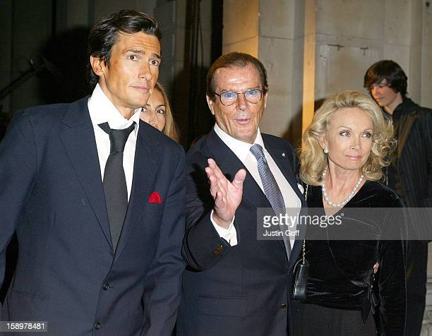 Roger Moore Attends The 'Giorgio Armani A Retrospective' Gala Private View At London'S Royal Academy Of Arts