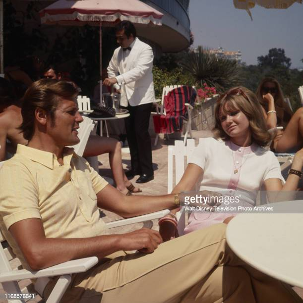 Roger Moore Jennie Linden extras appearing in the ABC tv series 'The Persuaders' episode 'To the Death Baby'