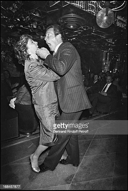 Roger Moore with wife Luisa Mattioli at The Paris Premiere Of The James Bond Film Rien Que Pour Vos Yeux In 1981