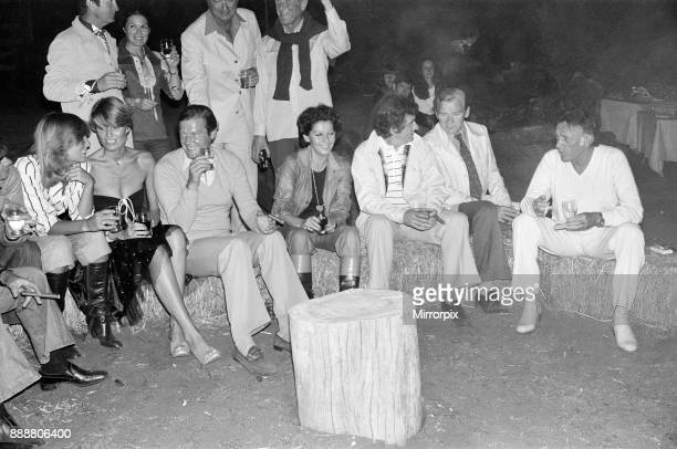 Roger Moore's 50th Birthday Party in the bush near Tshipise South Africa during the filming of his latest film 'Wild Geese' Suzy Miller Roger Moore...
