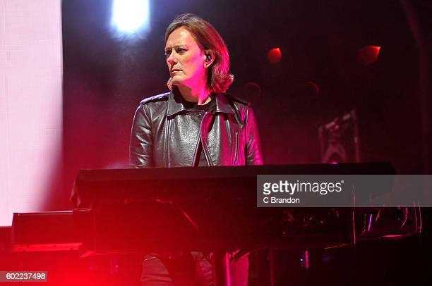 Roger O'Donnell of The Cure headlines on the Main Stage during Day 3 of Bestival at Robin Hill Country Park on September 10 2016 in Newport Isle of...