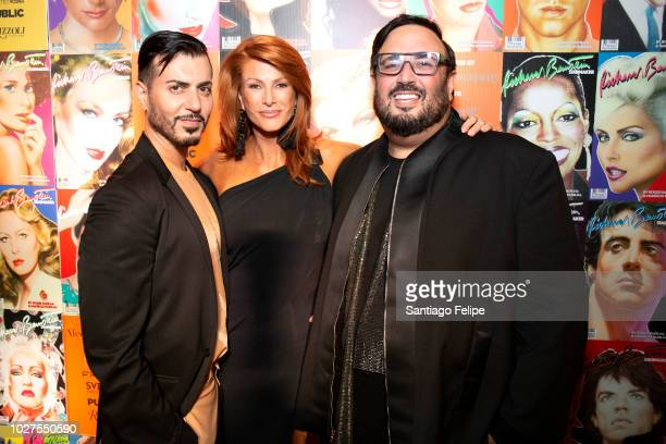 Roger Padilha Angie Everhart and Mao Padilha attend Richard Bernstein 'STARMAKER' Book Launch Party at Public Arts on September 5 2018 in New York...