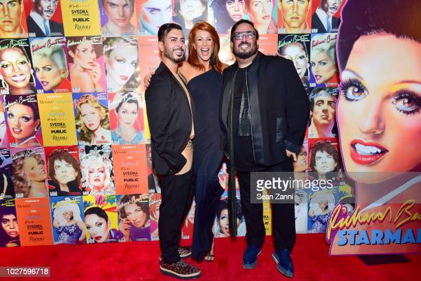 Roger Padilha Angie Everhart and Mauricio Padilha attend STARMAKER Book Launch By Roger And Mauricio Padilha at Public Hotel on September 5 2018 in...