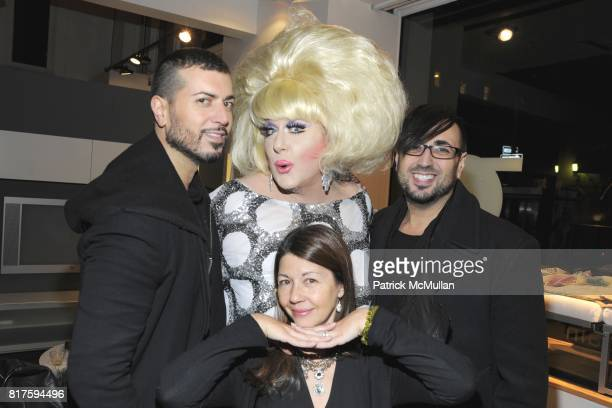 Roger Padillia Lady Bunny Fabrizio Padillia and Sally Randall Brunger attend 8TH ANNUAL BoCONCEPT/KOLDESIGN HOLIDAY PARTY at BoConcept on December 14...