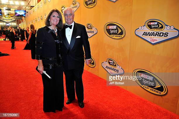 Roger Penske and his wife Kathy arrive on the red carpet for the NASCAR Sprint Cup Series Champion's Awards at the Wynn Las Vegas on November 30 2012...