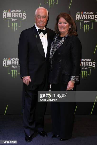 Roger Penske and his wife Kathy attend the Monster Energy NASCAR Cup Series Awards Celebration at the Wynn Las Vegas on November 29 2018 in Las Vegas...