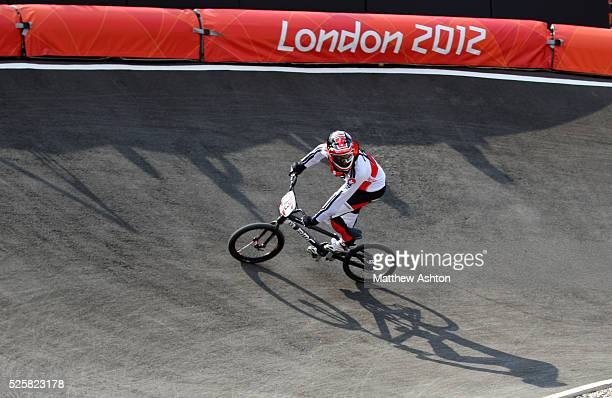 Roger Rinderknect of Switzerland during the 2012 London Olympic Summer Games at the BMX track, Olympic Park, London, England, UK on August 10th 2012