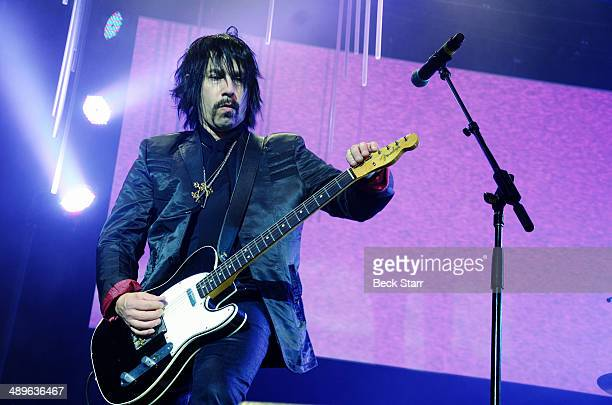 Roger Rocha of 4 Non Blondes performs at The LA Gay Lesbian Center's Annual An Evening With Women at The Beverly Hilton Hotel on May 10 2014 in...