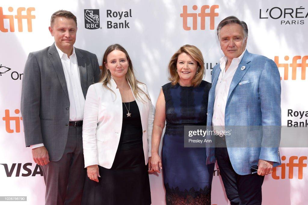 Roger Rueisuli, Alexandra Stewart, Sandy Stewart, and Brian Stewart attend the 'Sharkwater Extinction' premiere during 2018 Toronto International Film Festival at Roy Thomson Hall on September 7, 2018 in Toronto, Canada.