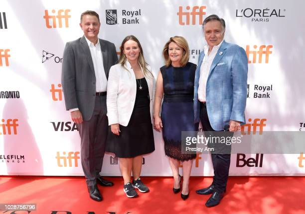 Roger Rueisuli Alexandra Stewart Sandy Stewart and Brian Stewart attend the 'Sharkwater Extinction' premiere during 2018 Toronto International Film...