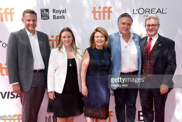 Roger Rueisuli Alexandra Stewart Sandy Stewart Brian Stewart and guest attend the 'Sharkwater Extinction' premiere during 2018 Toronto International...