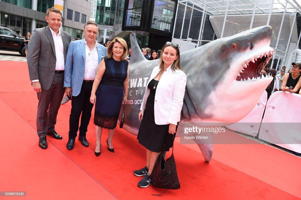 Roger Rueisuli, Brian Stewart, Sandy Stewart and Alexandra Stewart attend the 'Sharkwater Extinction' premiere during 2018 Toronto International Film Festival at Roy Thomson Hall on September 7, 2018 in Toronto, Canada.