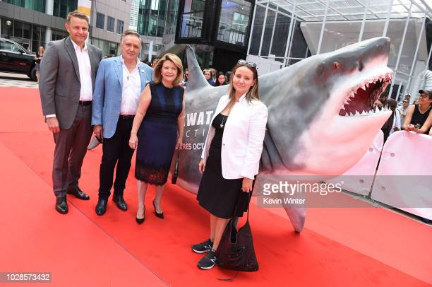 Roger Rueisuli Brian Stewart Sandy Stewart and Alexandra Stewart attend the 'Sharkwater Extinction' premiere during 2018 Toronto International Film...