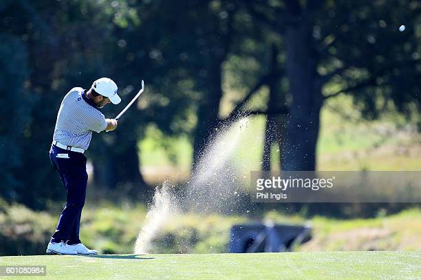 Roger Sabarros of France in action during the first round of the Paris Legends Championship played on L'Albatros course at Le Golf National on...