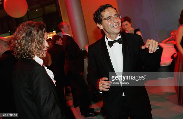 Roger Schawinski former head of the private German television station SAT1 and his wife Gabriella Sontheim dance at the 42nd Goldene Kamera Awards...