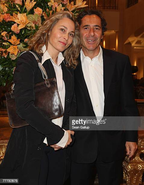 Roger Schawinski former head of the private German television station SAT1 and his wife Gabriella Sontheim attend the LeoBaeck Award at the Adlon...