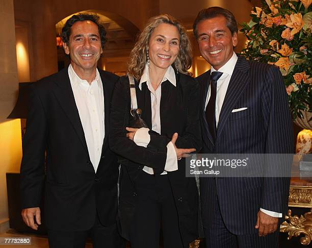 Roger Schawinski former head of the private German television station SAT1 his wife Gabriella Sontheim and television presenter Michel Friedman...