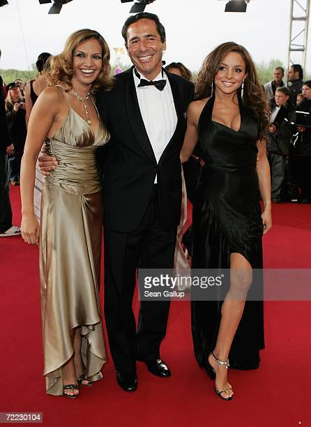 Roger Schawinski head of the private German television station SAT1 Anna Majer and Estefania Kuester attend the German Television Awards at the...