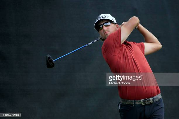 Roger Sloan of Canada plays his shot from the fourth tee during the third round of the Arnold Palmer Invitational Presented by Mastercard at the Bay...